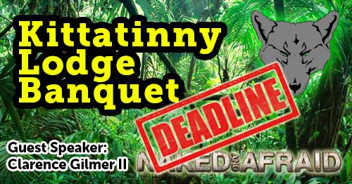 Lodge Banquet Registration Deadline Friday