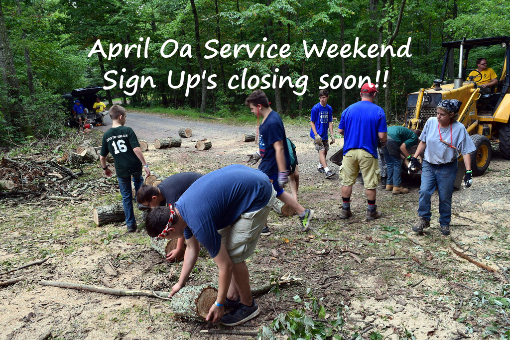 Approching Deadline for April service weekend signups!