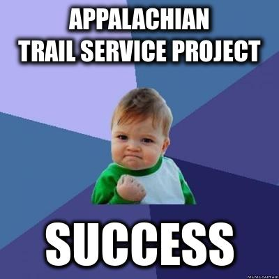 Appalachian Trail Service Project Success