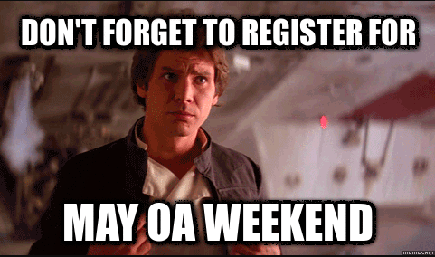 May Service Weekend Signup Deadline